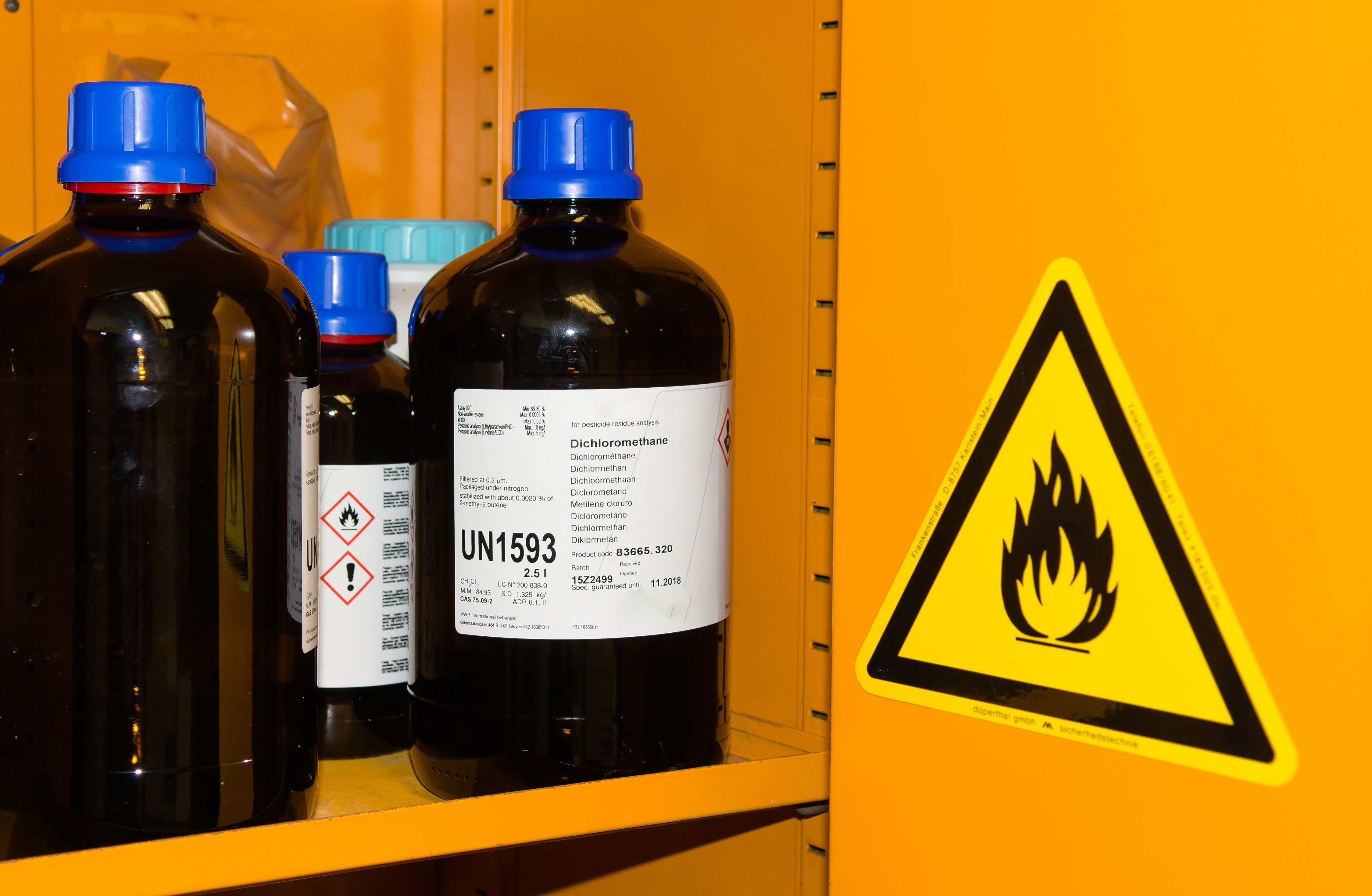 Flammable Chemicals in Safety Cabinet_SMALL